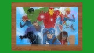 The Avengers Cartoon Jigsaw Funny Kids