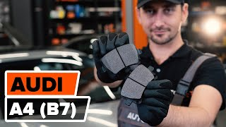How to change Warning contact brake pad wear on AUDI A4 (8EC, B7) - online free video