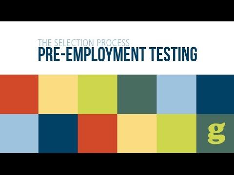 Pre Employment Testing