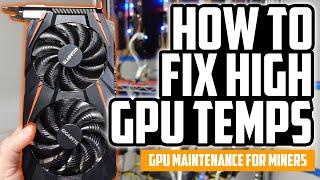 How to Fix Hİgh GPU Temperatures