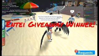 Anouncing The Winner In The Entei Giveaway! (Latias is Tommorow) - Roblox - PBB