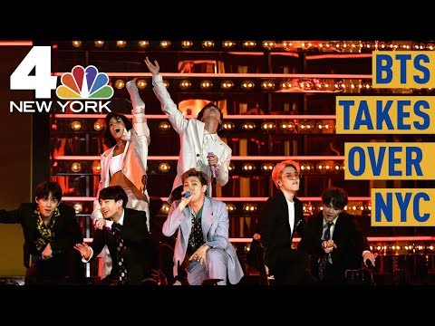 Cold Rain No Match for BTS Army Awaiting Central Park Show  NBC New York