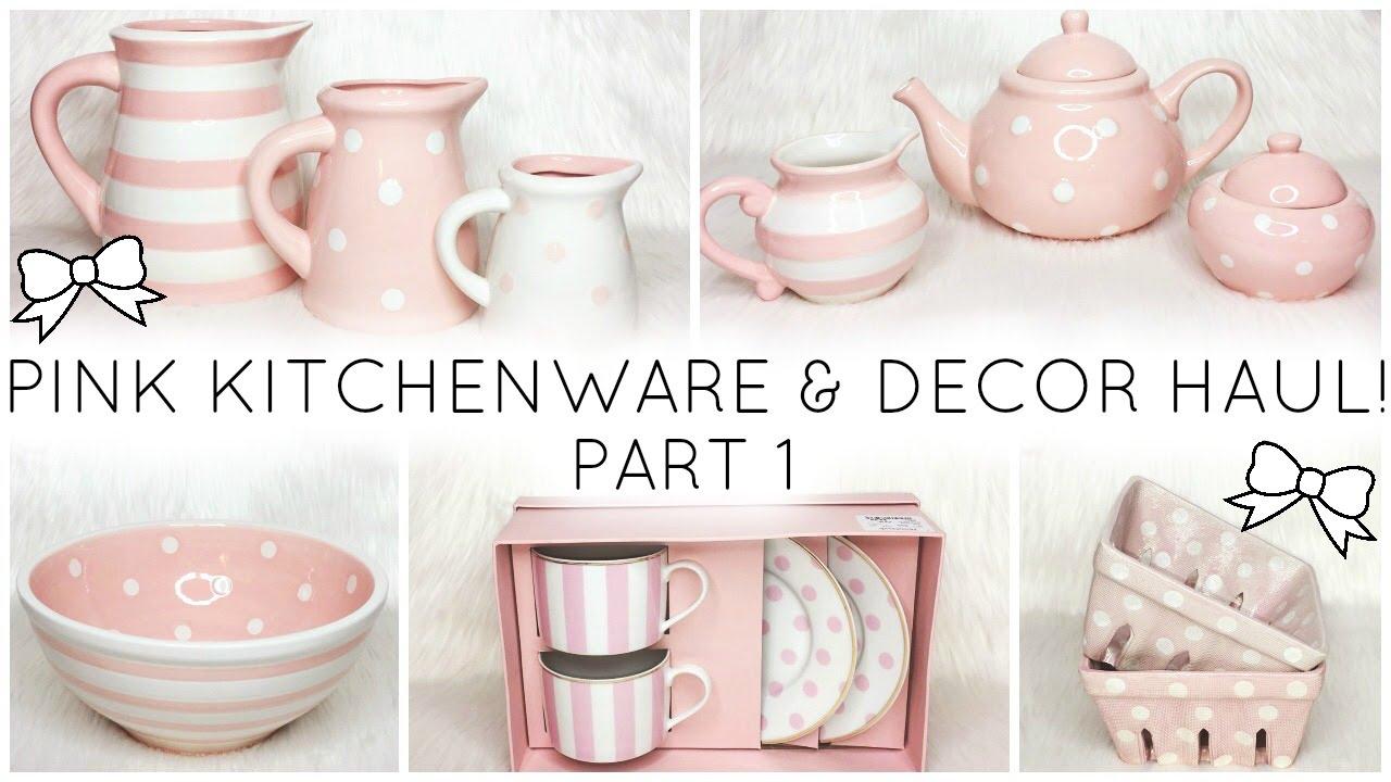 Pink Kitchenware Decor Haul White Polka Dots Homegoods Marshalls You