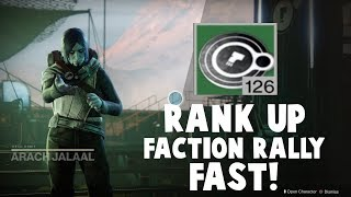 Destiny 2 Faction Rally!  How to rank up faction quickly!