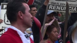 Thousands protest for Mexican leader to 'resign now'