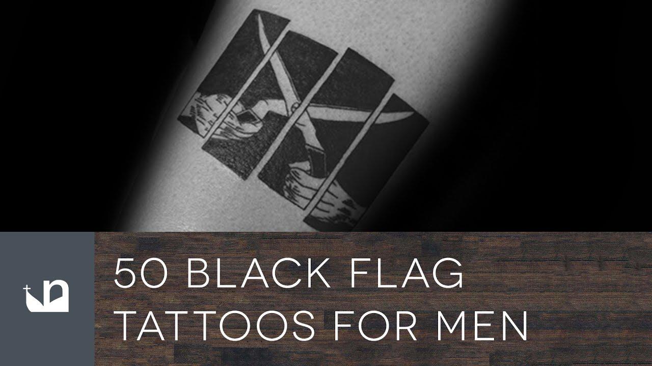 50 Black Flag Tattoos For Men Youtube