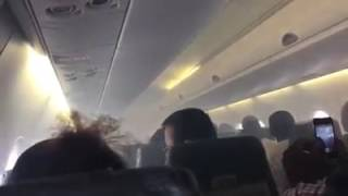 Flames onboard an Aero Contractor flight from Port Harcourt to Lagos