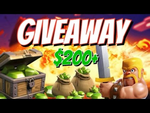 $200 Clash of Clans Free Gems iTunes/Google Play Gift Card Giveaway