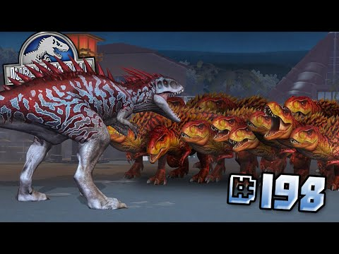 INDOMINUS REX VS 99 T.REXES!! || Jurassic World - The Game - Ep198 HD