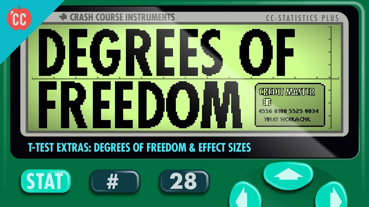 Degrees of Freedom & Effect Sizes: Crash Course Statistics #28