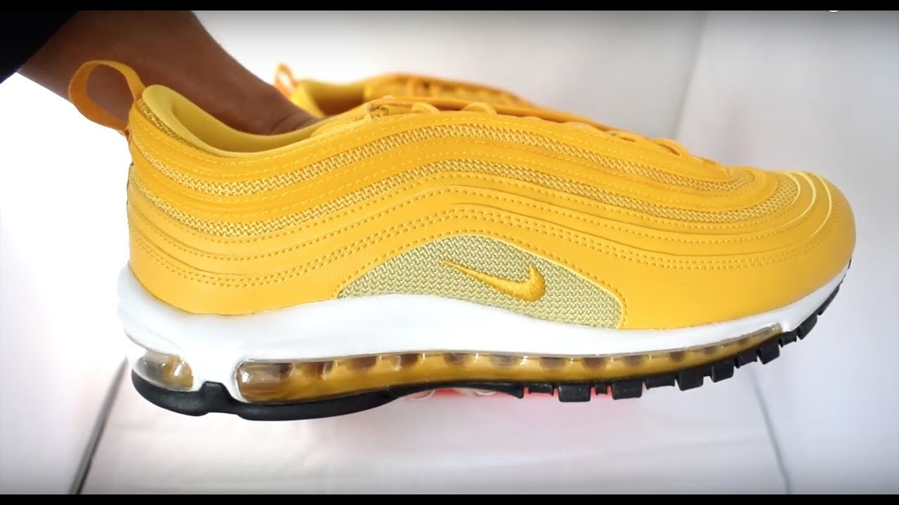 super popular 38410 aa6e9 Nike Air Max 97 Mustard Yellow Unboxing