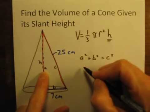 how to work out volume of a cylinder in cm