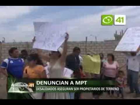 Pobladores desalojados aseguran ser propietarios de terreno en la Av. Nicolas de Piérola - Trujillo