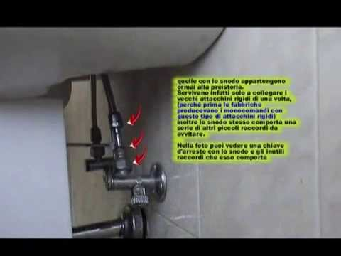 Come Montare Rubinetto Lavabo.Come Sostituire Le Chiavi D Arresto Sotto Un Lavandino Youtube