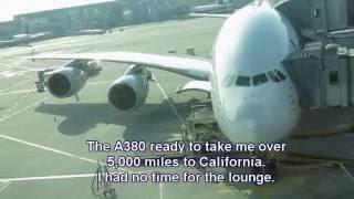 Upper Deck A380! Lufthansa Business Class Frankfurt to San Francisco