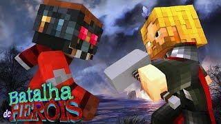 Minecraft : THOR vs STAR-LORD - BATALHA DE HERÓI ( Vingadores vs Guardiões da Galáxia)