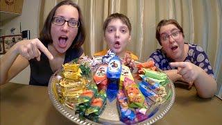 East European Candy Taste Test | Gay Family Mukbang (먹방) - Eating Show