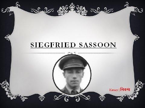 siegfried sassoon hero essay Summary and Analysis