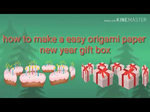 How to make a new year gift box | origami gift box | harshit ayansh mohit channel