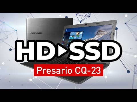 Trocando HD por SSD no Notebook Compaq Presario CQ-23 e Instalando o Windows 10