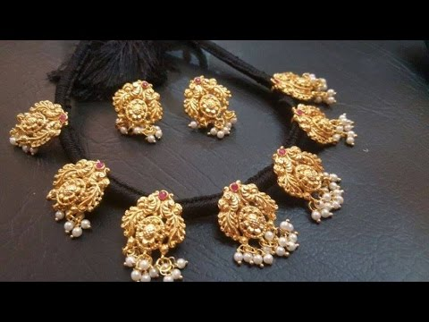 latest black thread jewelry designs