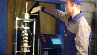 видео машины для испытания пружин