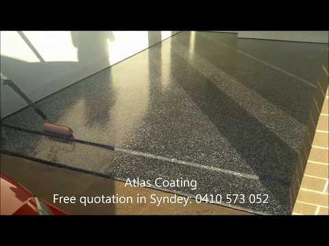 How to seal epoxy flake flooring-Final Coat