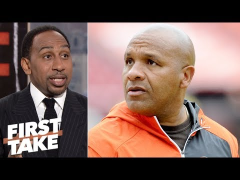 Hue Jackson fired from Browns while First Take debates if he should be let go | First Take
