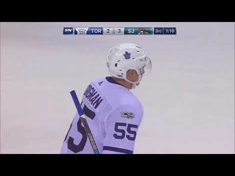 Andreas Borgman 1st NHL Goal! 10/30/17 (Toronto Maple Leafs vs San Jose Shark)