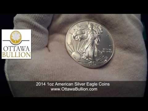 2014 1oz American Silver Eagle Coins  Ottawa Silver Bullion