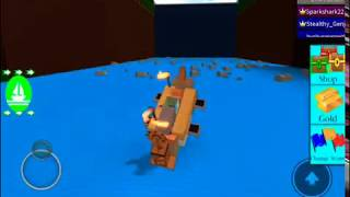 Carrying a boat all the way through!!!!! | Roblox| Lil Blu Rosy w/ Little Link