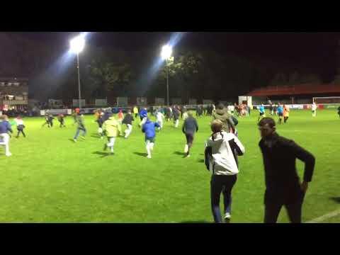St Patrick's Athletic vs Cork City final whistle Fans celebrating win