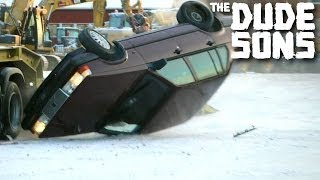 Rolling over Roman Atwood's car - PRANK