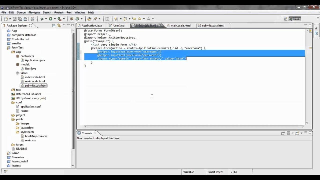 Play! Framework 2 0 Tutorial Simple Form