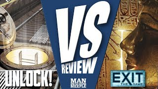 """VS"" - Exit: The Game versus Unlock! (Kosmos/Space Cowboys) Review by Man Vs Meeple"