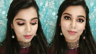 Tutorial | Simple engagement makeup in tamil | reception guest makeup in Tamil