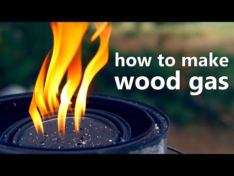 How To Make Wood Gas Biofuel (and an experimental gas collection method)