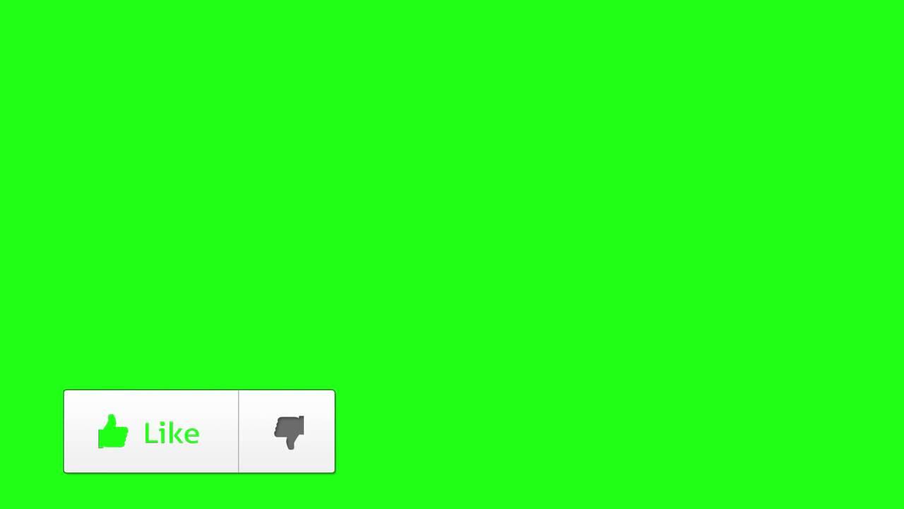 Botão De Like Chroma Key Youtube