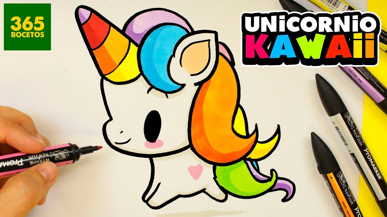 COMO DIBUJAR UN UNICORNIO KAWAII 🦄 LOL UNICORNIO KAWAII SUPER FACIL