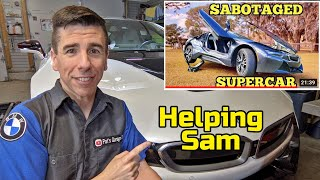 Helping Samcrac fix his auction BMW i8 Coolant Problems!