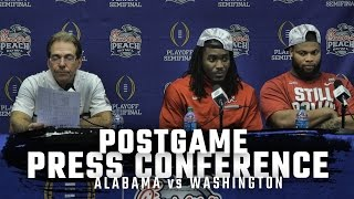Hear what Nick Saban, Bo Scarbrough, and Ryan Anderson said after beating Washington