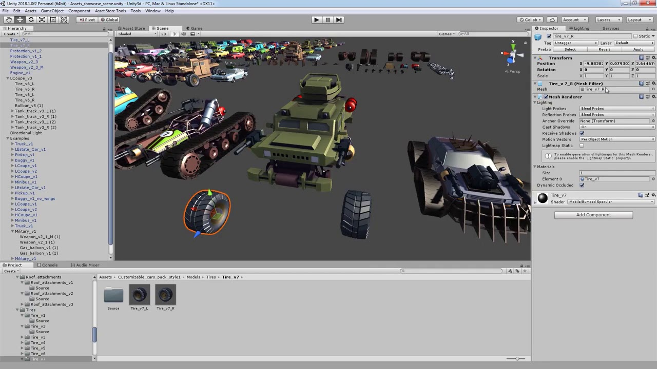 Unity Asset Store Pack - Stylized Customizable Cars (post apo v5) (Download  link below)