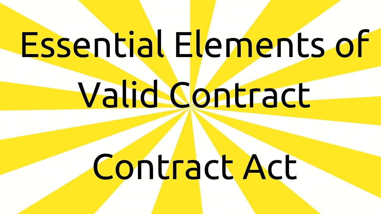 Beautiful Introduction In Other Essential Elements | Valid Contract | CA CPT | CS U0026  CMA Foundation