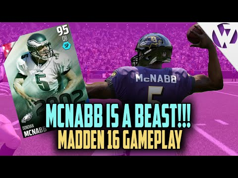 Madden 16 DONOVAN MCNABB IS A BEAST!!! Madden 16 Ultimate Team Gameplay