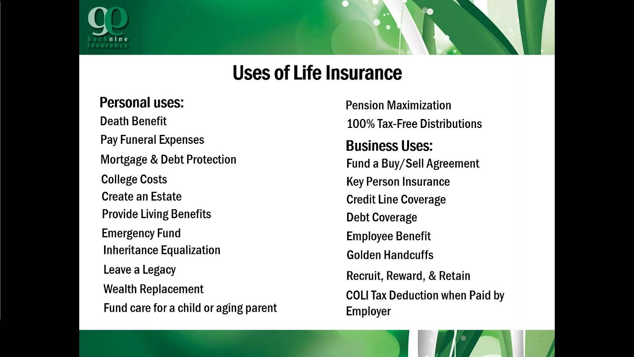 The Tax Advantages of Life Insurance - YouTube