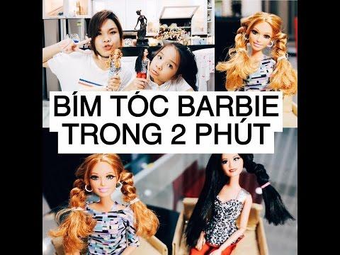Song Thư Vlog: Thử Thách THẮT BÍM CHO BARBIE TRONG 2 PHÚT - SONG THƯ CHANNEL