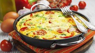 Яичница со свежими овощами. | Scrambled eggs with fresh vegetables.
