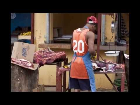 Red Shoes Across Dominican Republic - Samana Market