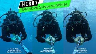 GoPro: Hero7 Black Silver White Color / Stabilization Underwater Comparison - GoPro Tip #642