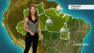 Previsão Norte - Bastante chuva em RR, PA e TO
